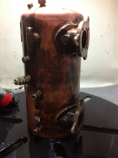 Antique Copper Coffee Maker - Before Cleaning