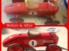 Antique Toy Race Car bought back to life