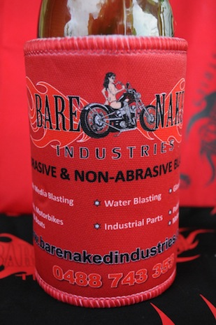 Bare Naked Industries - Stubby Cooler Red