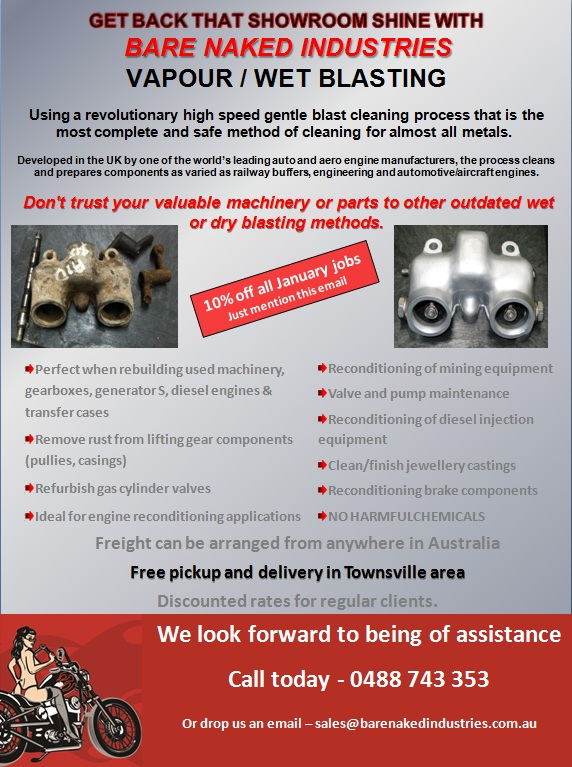VAPOUR / WET BLASTING - January Promotion!