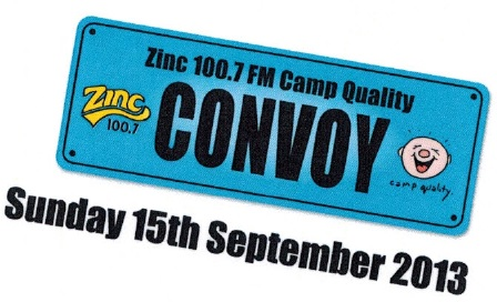 Zinc 100.7 Camp Quality Truck & Motorbike Convoy Townsville